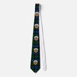 Clan Campbell Military Tartan And Sporran Tie