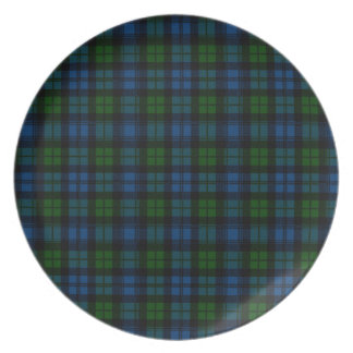 Clan Campbell Military Tartan Dinner Plates