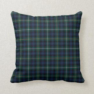 Clan Campbell Navy Blue and Green Scottish Tartan Cushion