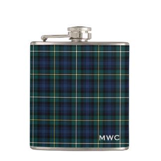 Clan Campbell Tartan Monogram Hip Flask