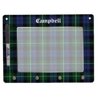 Clan Campbell Tartan Plaid Custom Dry Erase Board