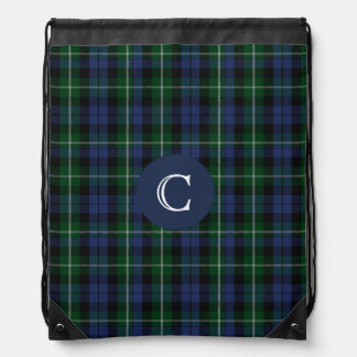 Clan Campbell Tartan Plaid Monogram Backpack