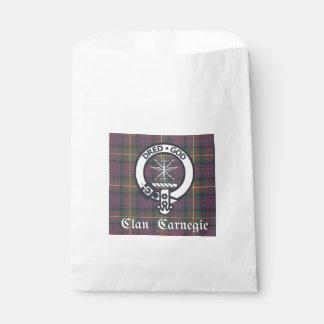Clan Carnegie Crest Tartan Favour Bags