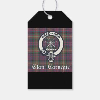 Clan Carnegie Crest Tartan Gift Tags