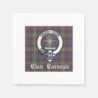 Clan Carnegie Crest Tartan Paper Napkins