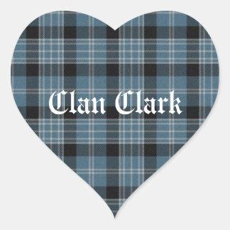 Clan Clark Tartan Sticker