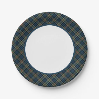 Clan Colquhoun and Calhoun Tartan Border Paper Plate