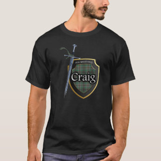 Clan Craig Tartan Scottish Shield & Sword T-Shirt