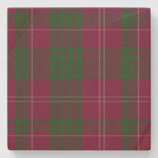 Clan Crawford Tartan Plaid Stone Coaster