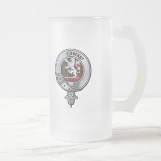 Clan Cumming Frosted Glass Beer Mug