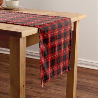 Clan Cunningham Red and Black Scottish Tartan Short Table Runner