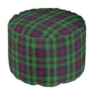 Clan Cunningham Scottish Style Green Blue Tartan Pouf