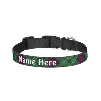 Clan Cunningham Tartan Customize Pet's Name Pet Collar