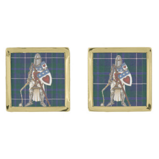 Clan Douglas Cuffl Lnks Archibald Gold Finish Cuff Links