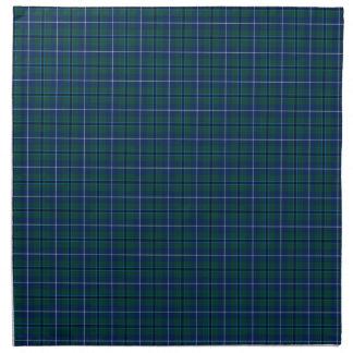 Clan Douglas Navy Blue Modern Tartan Napkin