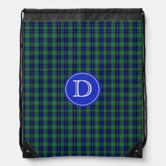 Clan Douglas Tartan Plaid Monogram Backpack