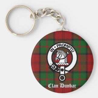 Clan Dunbar Tartan & Crest Badge Key Ring