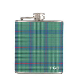 Clan Duncan Ancient Tartan Monogram Hip Flask