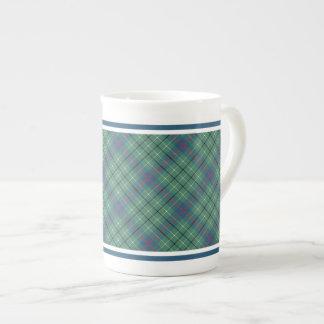 Clan Duncan Light Green Ancient Tartan Tea Cup