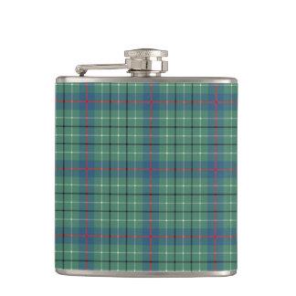 Clan Duncan Light Green and Blue Ancient Tartan Flask