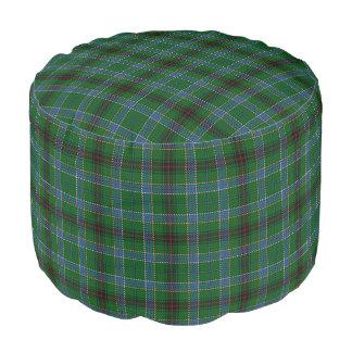 Clan Duncan Scottish Style Blue Green Tartan Pouf
