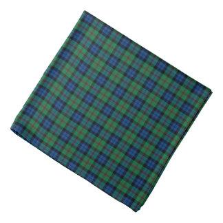 Clan Dundas Tartan Blue, Green, and Red Plaid Bandana