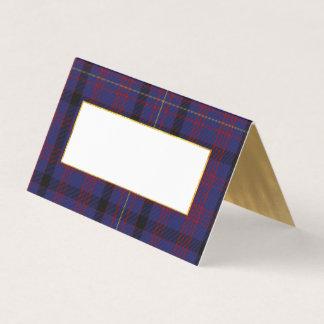 Clan Dundonald Wedding Folded Place Card