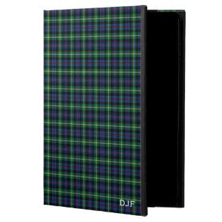 Clan Farquharson Blue and Green Tartan Monogram Powis iPad Air 2 Case
