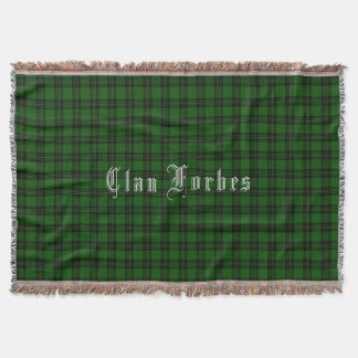 Clan Forbes Tartan Throw Blanket