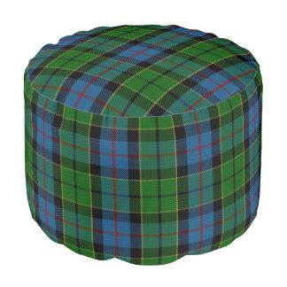 Clan Forsyth Scottish Style Blue Green Tartan Pouf