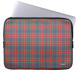 Clan Fraser Ancient Tartan Monogrammed Laptop Sleeve
