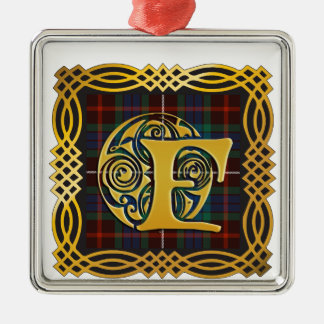 Clan Fraser Ancient Tartan Mug Metal Ornament