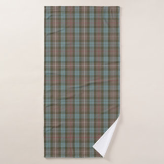 Clan Fraser Hunting Tartan Weathered Bath Towel