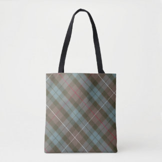 Clan Fraser Hunting Tartan Weathered - Rotated Tote Bag