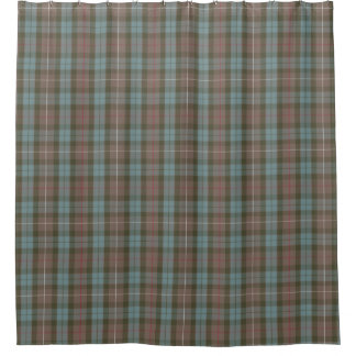 Clan Fraser Hunting Tartan Weathered Shower Curtain