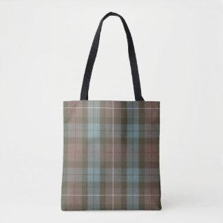 Clan Fraser Hunting Tartan Weathered Tote Bag