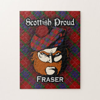 Clan Fraser Scottish Proud Tartan Jigsaw Puzzle