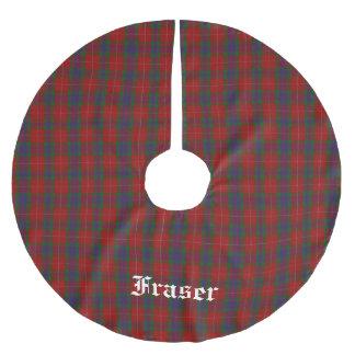 Clan Fraser Tartan Plaid Tree Skirt