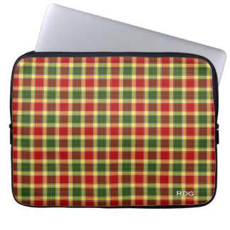 Clan Gibbs and Gibson Tartan Monogrammed Laptop Sleeve
