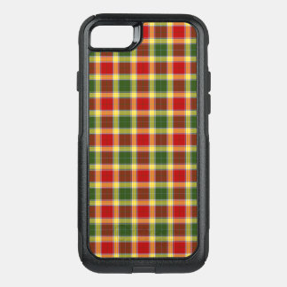Clan Gibbs Tartan Bright Red and Yellow Plaid OtterBox Commuter iPhone 8/7 Case