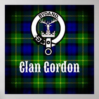 Clan Gordon Crest and Tartan Poster