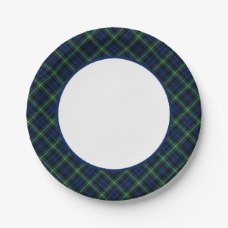 Clan Gordon Tartan Border Paper Plate