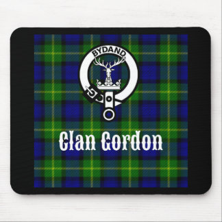 Clan Gordon Tartan Crest Mouse Pad
