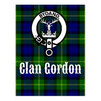 Clan Gordon Tartan Crest Postcard
