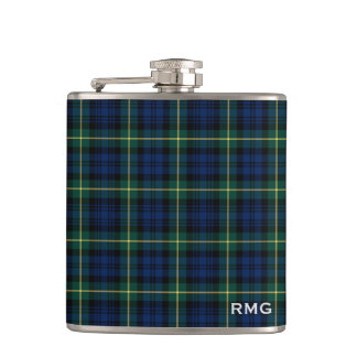 Clan Gordon Tartan Monogrammed Hip Flask