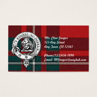 Clan Gregor Business Cards Customize to your infor