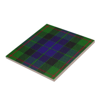 Clan Gunn Scottish Expressions Tartan Small Square Tile