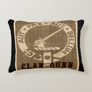 Clan Gunn Sepia Decorative Cushion