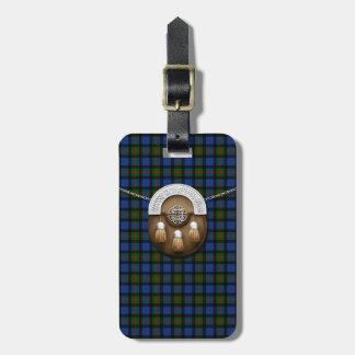 Clan Gunn Tartan And Sporran Luggage Tag