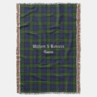 Clan Gunn Tartan Plaid Custom Throw Blanket